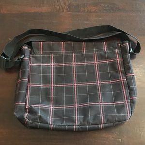 Roxy Bags - NWOT Roxy Black/Punk Plaid Messenger Bag